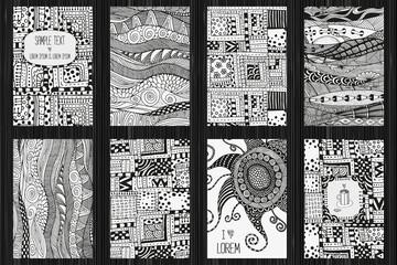 Set of artistically cards.