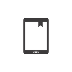 eBook vector icon. E Book reader isolated on white background