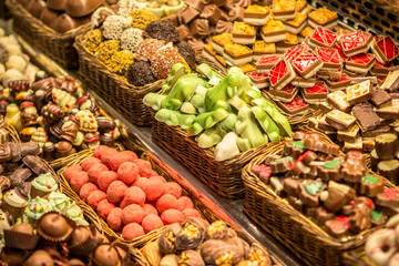 Chocolate on the market in Barcelona