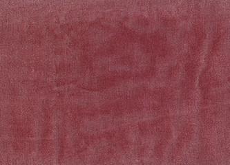 Red denim textile texture.