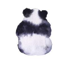 Bear the panda. Isolated on white background.