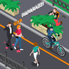 Paparazzi Isometric Illustration