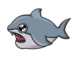 Nice cartoon shark. SHARK WITH OPEN JOY