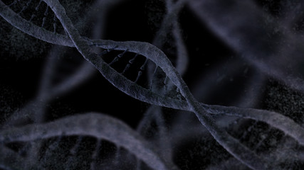 DNA structure, molecule chaotic background