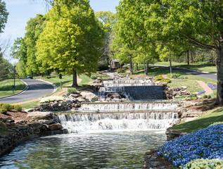 Outdoor park and waterfall lake/Waterfall Lake