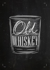 Poster old whiskey