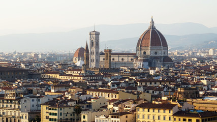 Florence panorama skyline sunny day