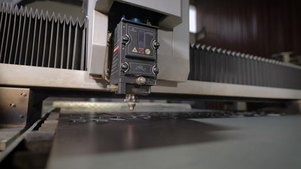 High precision CNC laser cutting metal sheet. Modern technologies allow to receive high-precision parts. Programmable machines operate efficiently and without the exemption