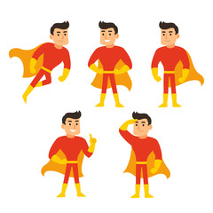 Superhero character set