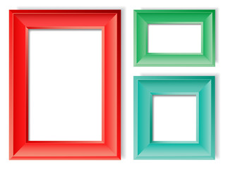Picture Frames. Vector Illustration of Realistic Picture Frames. Layered separately. Global Colors.