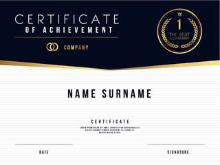 Vector Certificate Template Design with Certificate Award.