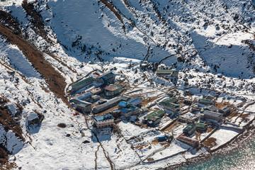 View to Gokyo village in Everest region, Nepal