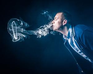 Medusa of smoke. vape. vaping.