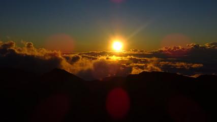 Haleakala Volcano, Maui, Hawaii. Sunrise