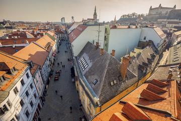 Bratislava panorama - aerial view