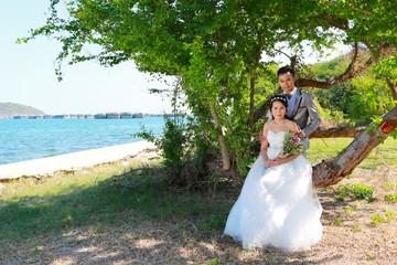 Pre Wedding photography thai couples at Koh Si Chang Island.