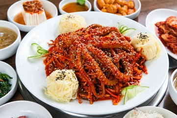 Braised Octopus with noodles