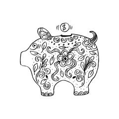 Piggy bank sketch