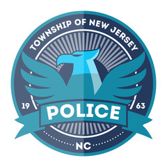 State police symbol icon vector