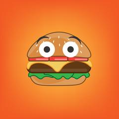 Burger Smile. Vector illustration