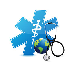 medical international symbol . illustration design