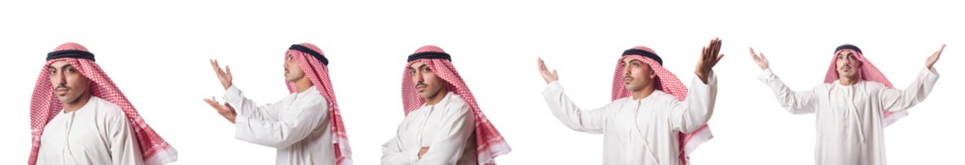 Arab businessman isolated on white