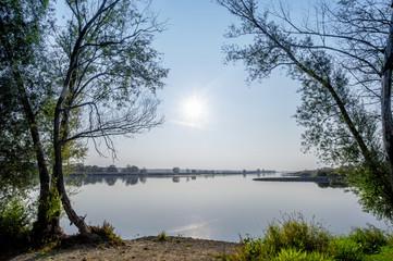 Die Oder, der Grenzfluss zwischen Polen und Deutschland
