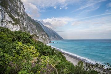 beautiful cliff and sea at taiwan