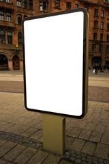 Blank mockup outdoor advertising billboard as copy space