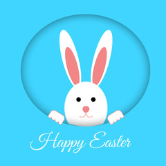 Rabbit happy easter vector eps 10 background