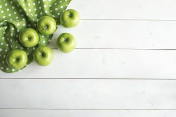 Fruit apple on wooden table