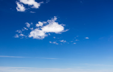 Photo with beautiful blue sky and white clouds