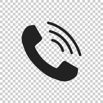 Phone icon vector, contact, support service sign on isolated background. Telephone, communication icon in flat style.