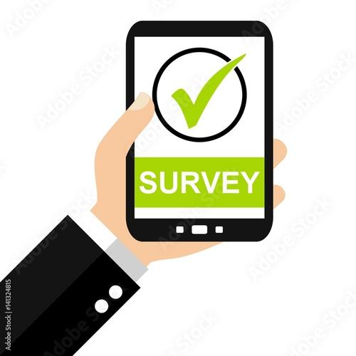 """Verhüten Mit Dem Smartphone: """"Survey Mit Dem Smartphone"""" Stockfotos Und Lizenzfreie"""