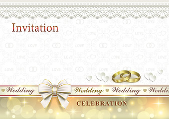 Wedding invitation with rings