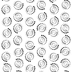 Abstract Dots Circle Background. 3d Rendering
