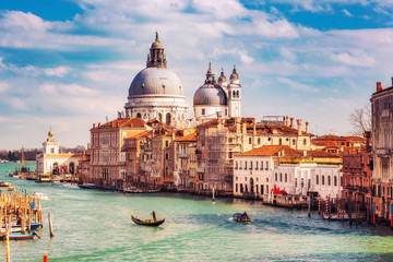 Wall Mural - Grand Canal and Basilica Santa Maria della Salute in Venice