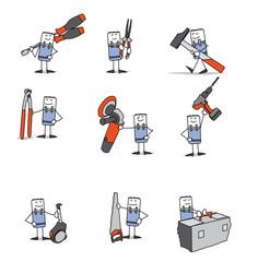 Personnages icônes - Outils et bricolage - Maintenance