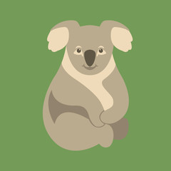 Koala Bear  vector illustration style Flat