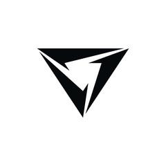 triangle theme logo logotype art
