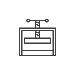 Afbeeldingsresultaat voor press machine symbol