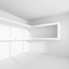 White Modern Architecture Background