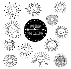 Hand Drawn Suns Collection