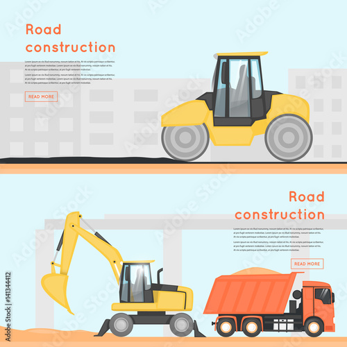 Construction Equipment Banners Rustic Banners