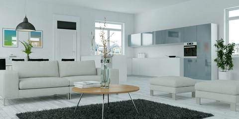 Moderne Wohnzimmer Visualisierung