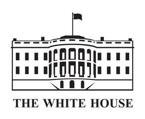 white house building icon in Washington DC