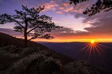 Sunset from Raven's Roost Overlook • Blue Ridge Parkway • Virginia