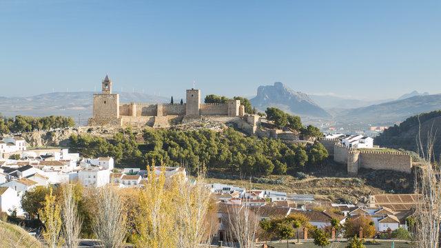 Ancient city on Mountain. Antequera, Malaga