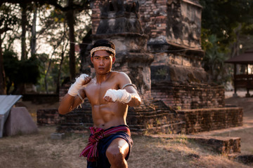 The fight with boxing,Thai boxing.