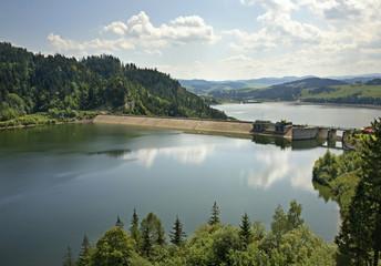 Dam at Czorsztyn lake near Niedzica. Poland